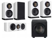 Wharfedale EVO 4.1 4CS HT1003 | Conjunto altavoces Home Cinema 5.1 - color Negro, Nogal, Blanco - oferta Comprar