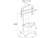 Mueble televisión Gisan MVC210