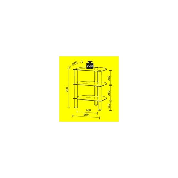 Mueble de Audio Just Racks R590 AL