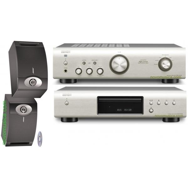 Equipo de sonido Denon DCD-520 + PMA-520 + Bose 201 SV