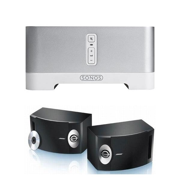 Sonos Connect Amp + Bose 201 Reproductor de zona con amplificación y altavoce