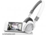 Auriculares B&W P3 negro blanco iphone plegable